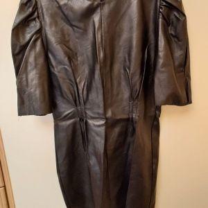 Μαύρο Φόρεμα Δερματίνη