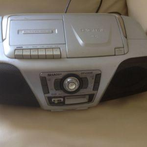 SHARP - CD & Radio FM Player portable - φορητο