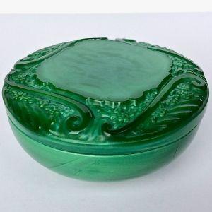 Συλλεκτικό Κουτί Μαλαχίτη CURT SCHLEVOGT Τσεχίας - Czech Malachite Vintage Jewellery Trinket Box