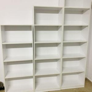 βιβλιοθήκη από λευκή λάκα