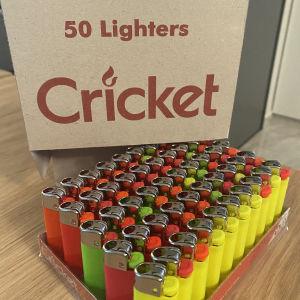 Αναπτήρας Cricket Mini Pastel Φωσφοριζέ 50 τεμαχια
