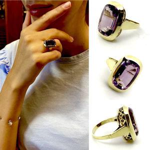 Δαχτυλιδι 14k με Αμεθυστο