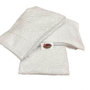 Πετσέτα μπάνιου ζακάρ Αιγύπτου λευκή 70*140