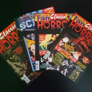 4 περιοδικά αφιέρωμα σε ταινίες τρόμου cine fan horror