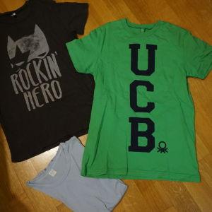 2 benetton μπλουζακια και μια φανελα για 11-12χρ