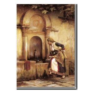 Κοπέλα στη Βρύση του Θεόδωρου Ράλλη 70Χ100 εκ.