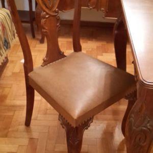 Τραπεζαρία & 6 Καρέκλες Μασίφ Καρυδιά