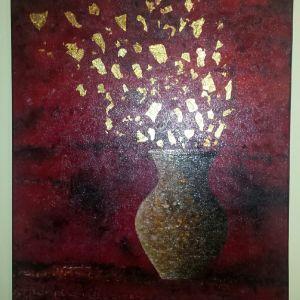 Πίνακας ζωγραφικής ενυπόγραφος. Σύγχρονη ελληνική τέχνη. Έργο μοντέρνας τέχνης ενυπόγραφο. Λάδι σε καμβά.