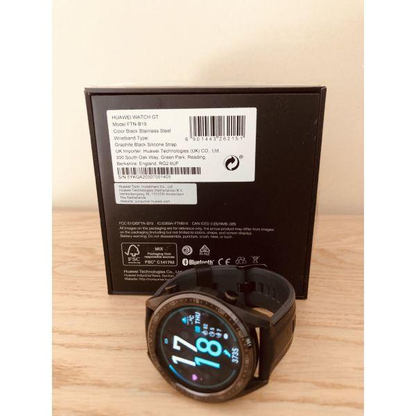 Smartwatch Huawei GT Sport 46mm (Black) kenourgio sto kouti tou / 100 % adiavrocho sto gliko ke sto thalassino  nero / Best Seller smart watches