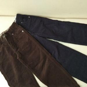 2 Κοτλέ παντελόνια Νο 5-6years (116cm)