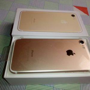 Iphone 7 Gold Original (32GB) Καινούργιο Εκθεσιακό 9 Μήνες εγγύηση με υγεία μπαταρίας 100%