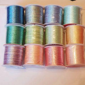 glitter shiny yarn 12 roll set 100m each