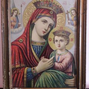 Vintage εικόνα της Παναγίας της Φρεφοκρατούσας. Κωδικός 97
