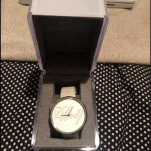 Dkny white leather watch