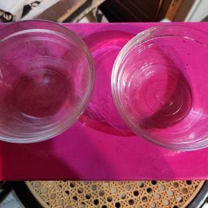 Μπωλ παγωτού γυάλινα x2