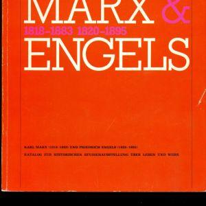 """ΠΑΛΙΑ ΒΙΒΛΙΑ. """" MARX & ENGELS """" . Στη γερμανική γλώσσα . Με πολλές πληροφορίες και πλούσιο φωτογραφικό υλικό. Σε πολύ καλή κατάσταση."""