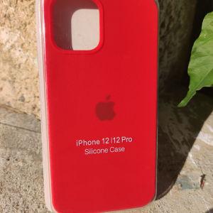 New. Original OFFICIAL Apple Θήκες σιλικόνης για IPhone 12 / 12 Pro. Red
