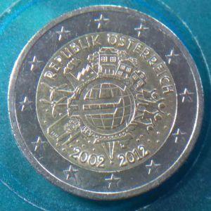 Αυστρία 2 Ευρώ, 2012 10 Χρόνια Ευρώ