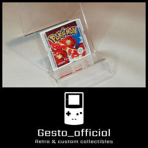 Pokemon Red ανταλλακτικό αυτοκόλλητο για την κασέτα Gesto_official