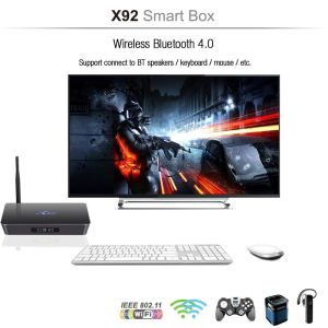 TV BOX ΧΩΡΙΣ Συνδρομές  X92 Octa-core Android TV Box - Ένα πολύ Δυνατό και απίστευτα Γρήγορο TV BOX  (8ΠΥΡΙΝΟ)  4k FULL HD