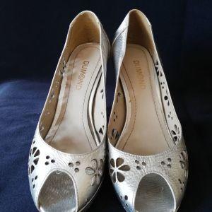 Παπουτσια γυναικεια peep toe δερματινα  DUMOND ν.38