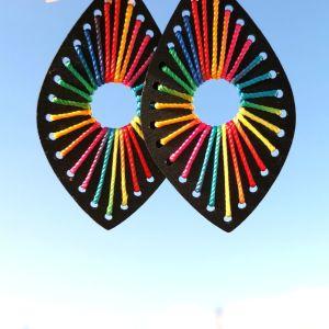 Σκουλαρίκια Rainbow