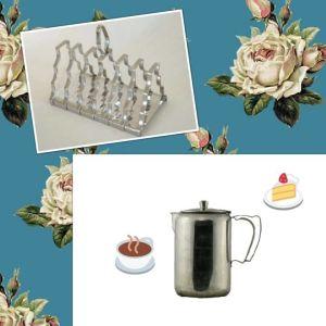 Vintage θήκη για φρυγανιές vintage κανάτα του καφέ 1960s