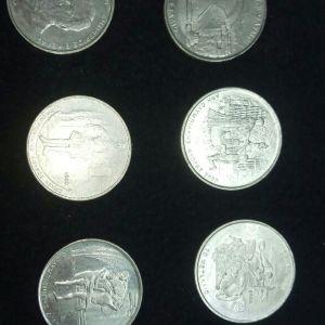 Όλο το συλλεκτικό σετ των έξι κερμάτων των 500 δρχ. που κυκλοφόρησαν το 2000.