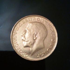 Χρυση Αγγλικη λιρα 1918-Βασιλιας Γεωργιος ο Ε