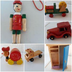 Διάφορα ξύλινα vintage παιχνιδια