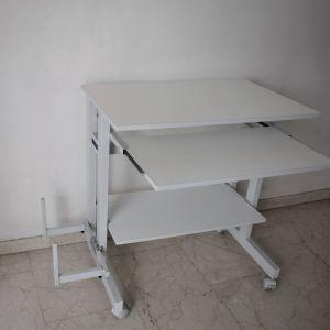 Γραφείο Ηλεκτρονικού Υπολογιστή Λευκό. Διαστάσεις: 75 X 48 X 77