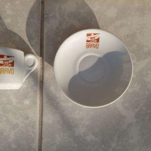 BRAVO φλυτζανακι & πιατακι καφε
