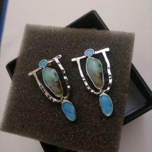 Σκουλαρίκια vintage με μαργαριτάρι