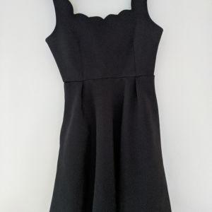 Μίνι mini κοντό φόρεμα μαύρο αμάνικο