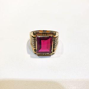 Χρυσό δαχτυλίδι 14Κ με ζιργκόν, 7.3γρ.