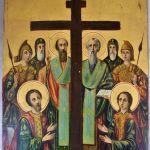 Παλαιά ζωγραφιστή εικόνα - Η Ύψωση του Τιμίου Σταυρού