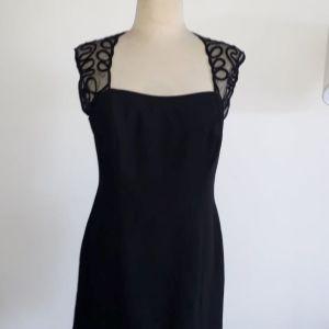 Joseph Ribkoff μαύρο βραδινό φόρεμα