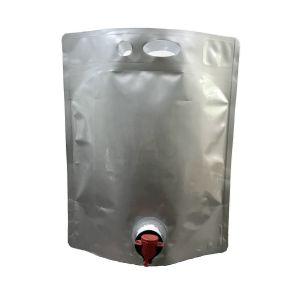 Ασκός Pouch 5L με βρύση για υγρά τρόφιμα, κρασί, λάδι κλπ. (τιμή 10 τμχ)
