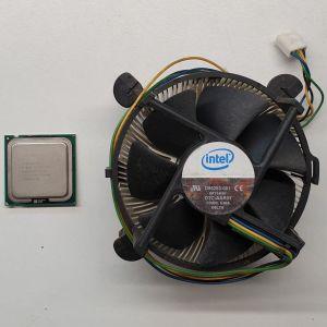 Επεξεργαστής CPU INTEL CORE 2 DUO E6600 2.40 GHz με την INTEL ψύκτρα του
