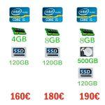 PC-Fujitsu – Intel i5-3570, 4GB(8GB) DDR-3 , SSD-128GB (+ HHD-500Gb)