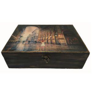 Ξύλινο κουτί αποθήκευσης MILAN