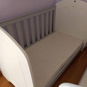 Παιδικό κρεββατι - κούνια για μωρά έως 6 χρόνων με 1,40 εκατοστά.