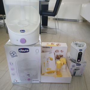 Chicco αποστειρωτής και θερμαντήρας & Medela ηλεκτρικό θήλαστρο