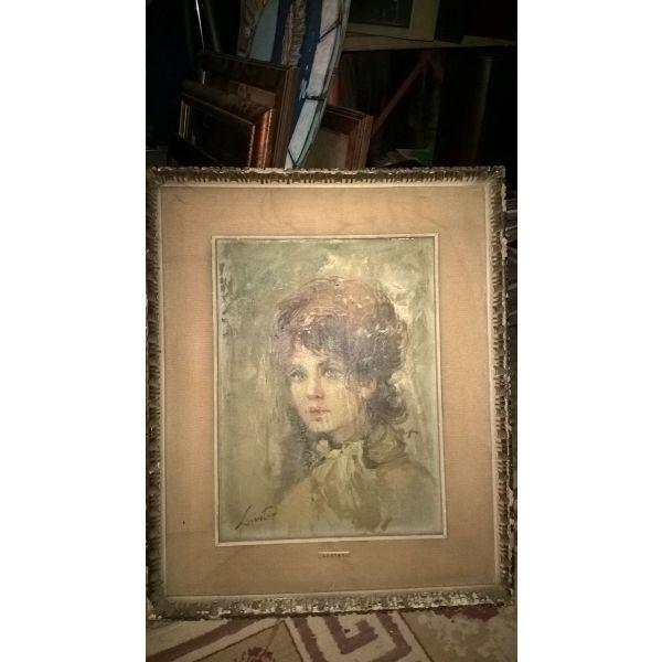 ladi portreto . antika kadro mallon prin 1900