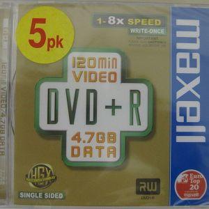 MAXELL DVD +R DATA 4,7 GB 8X