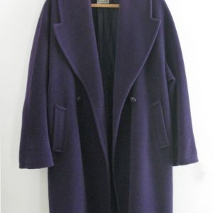 Μοβ Ιταλικό Παλτό Silak Large