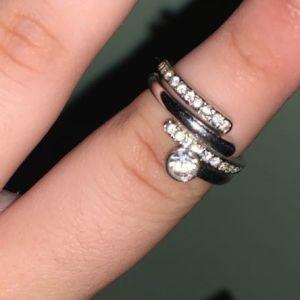 Swarovski δαχτυλίδι διπλο