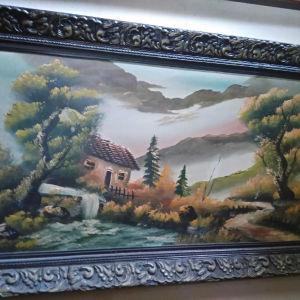 πίνακας εποχής 1960 με υπογραφή