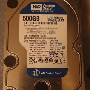 """HDD Western Digital 500GB 3,5"""""""