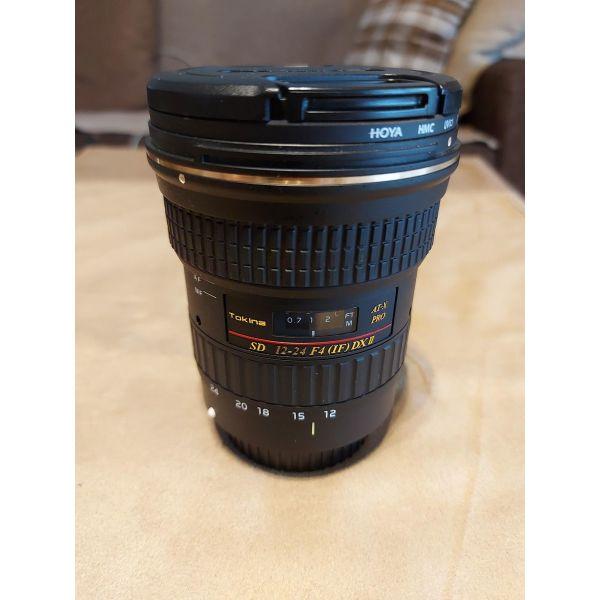 Tokina 12-24mm f/4 AT-X 124AF Pro DX II Lens for Canon EF + thiki
